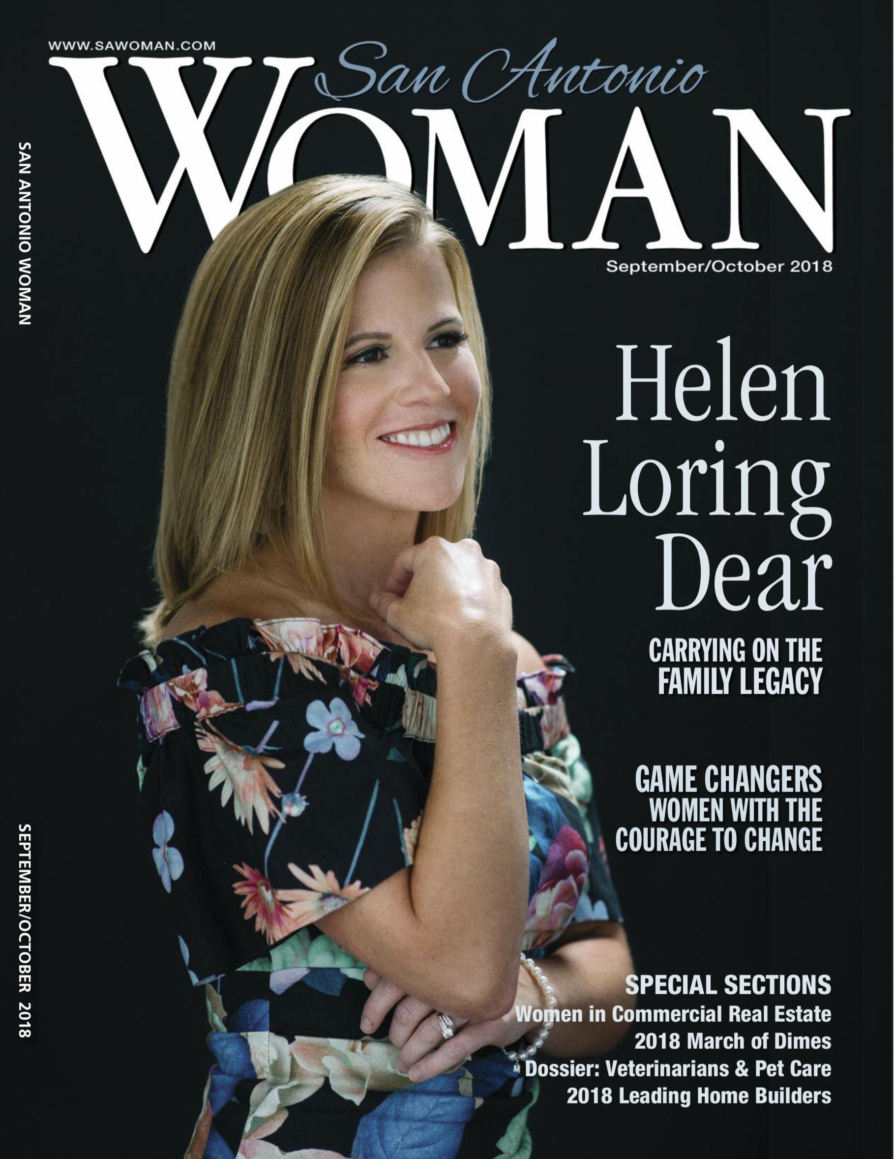 Cover of current San Antonio Woman magazine
