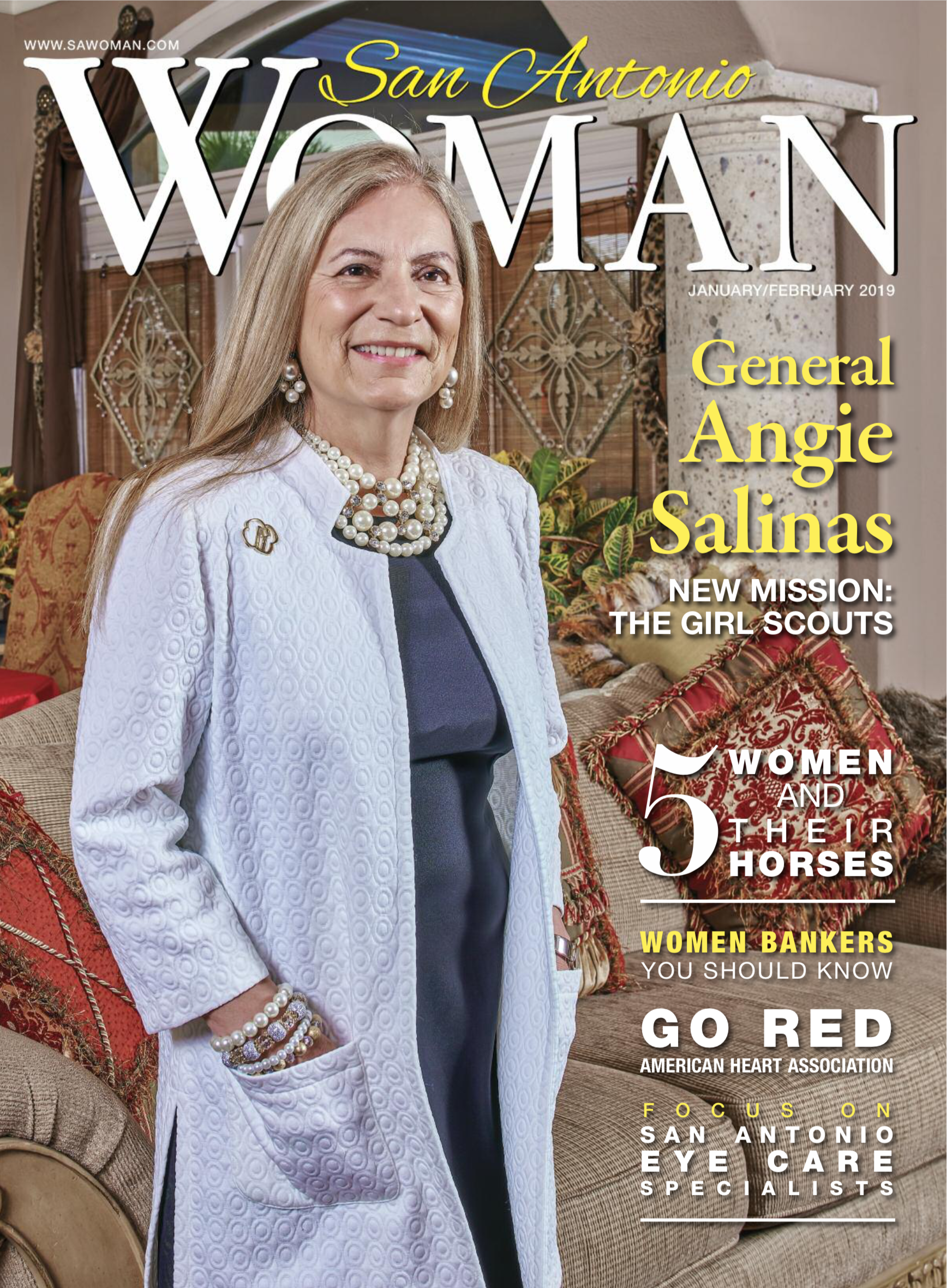 Cover of current San Antonio Woman magazine