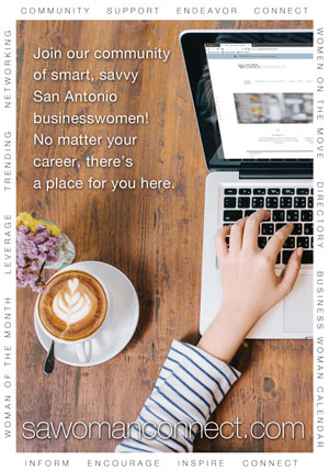 Ad for San Antonio Woman Connect