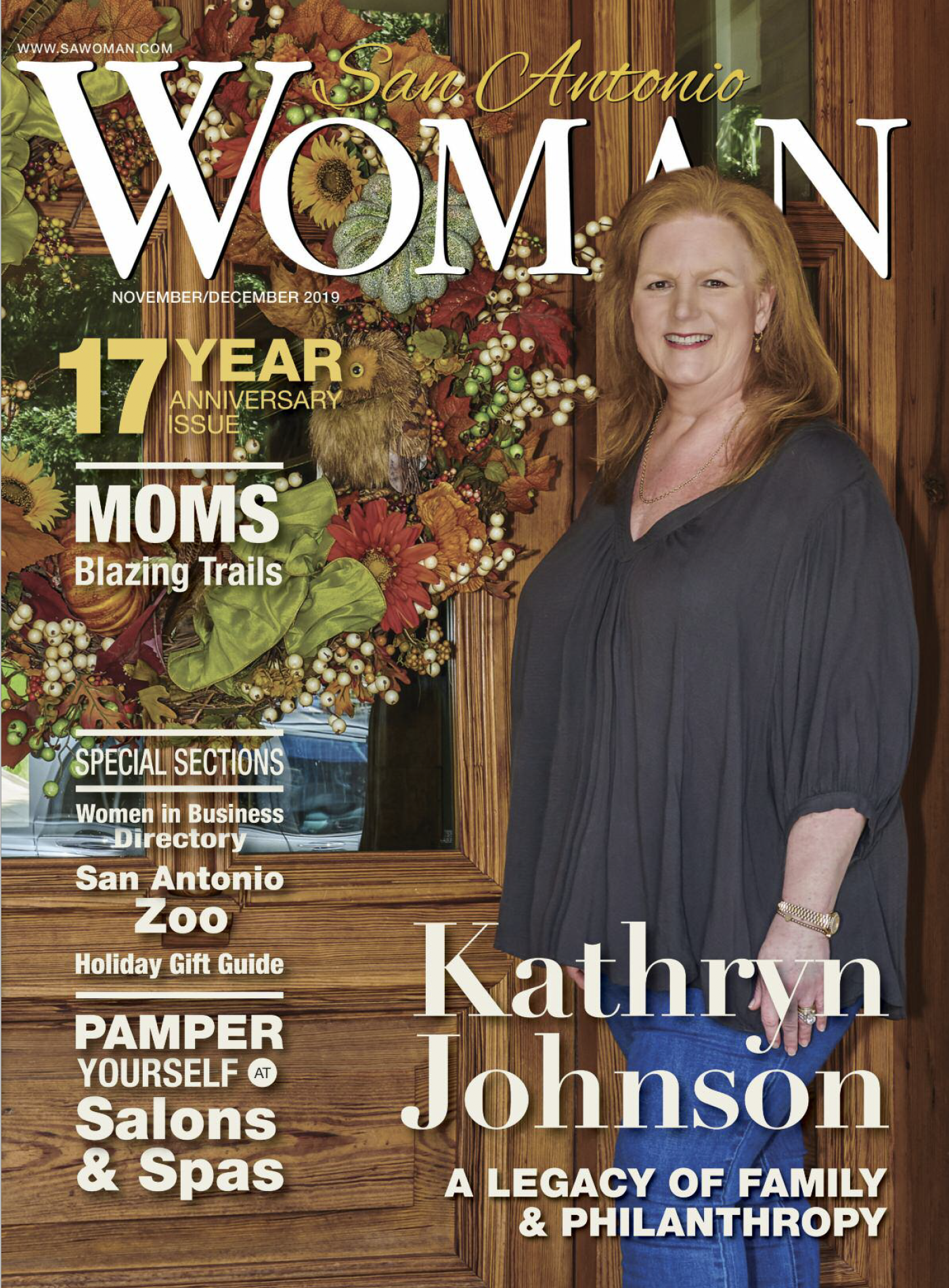 Cover photo for San Antonio Woman magazine